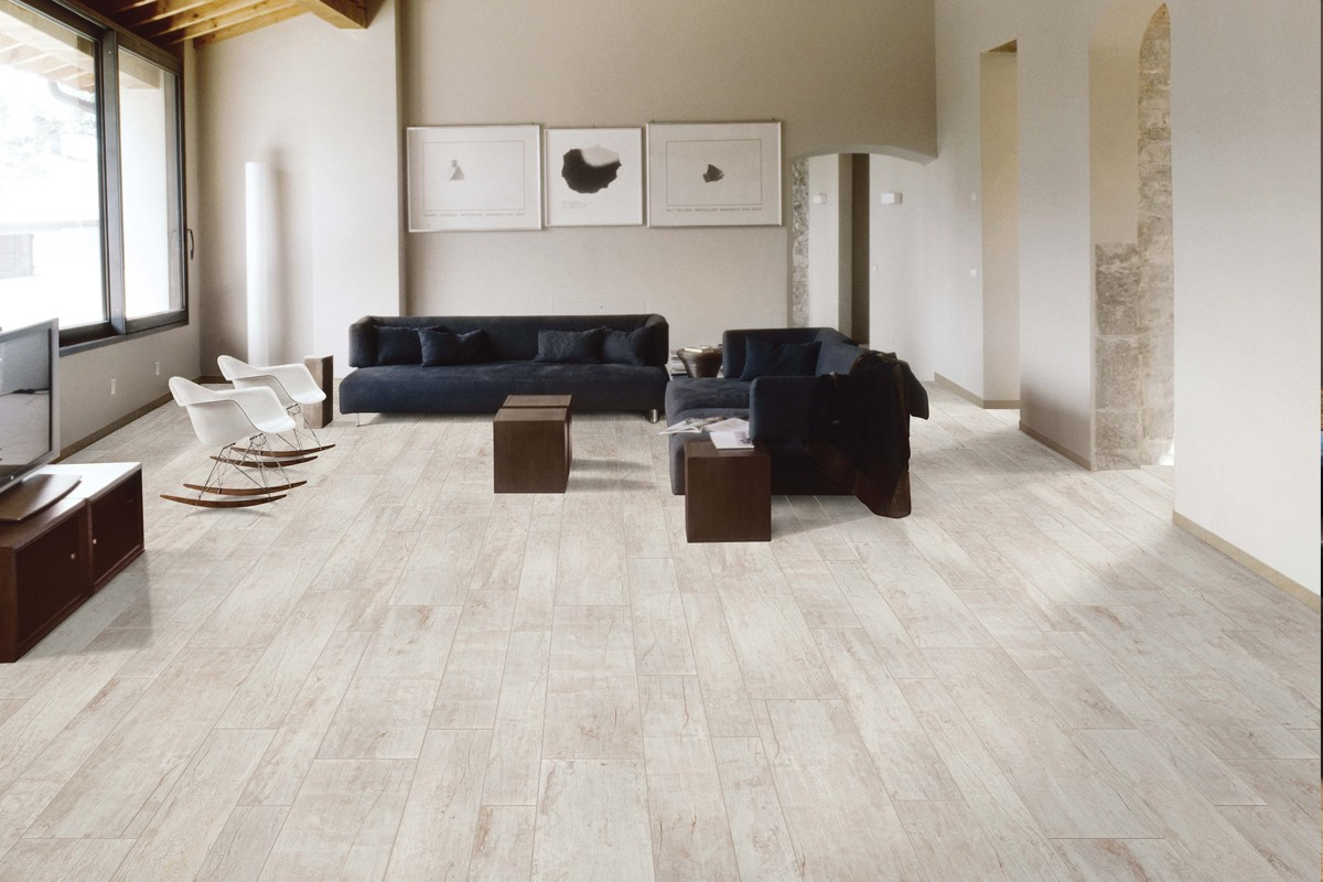 pavimenti in gress legno : Gres porcellanato effetto legno Nadi Bianco 30x120 Ceramiche CRZ64