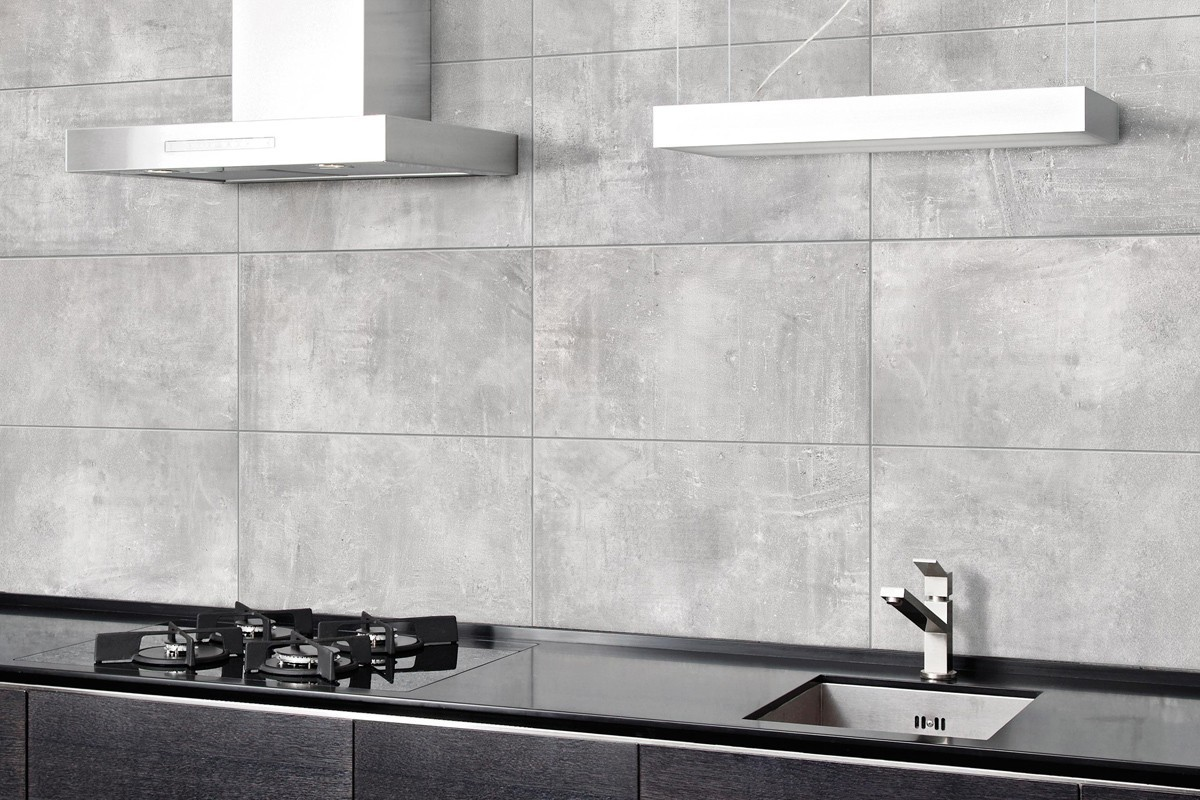 Gres porcellanato effetto moderno nice grigio 60x60 ceramiche crz64 - Piastrelle cucina ...