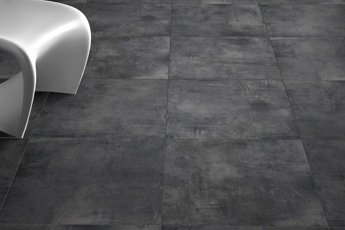 Carrelage int rieur contemporain nice antracite 45x45 for Carrelage interieur contemporain