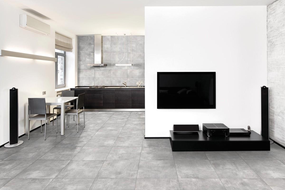 Modern fliesen nice grigio 45x45 ceramiche crz64 for Ausgezeichnet moderne fliesen wohnzimmer