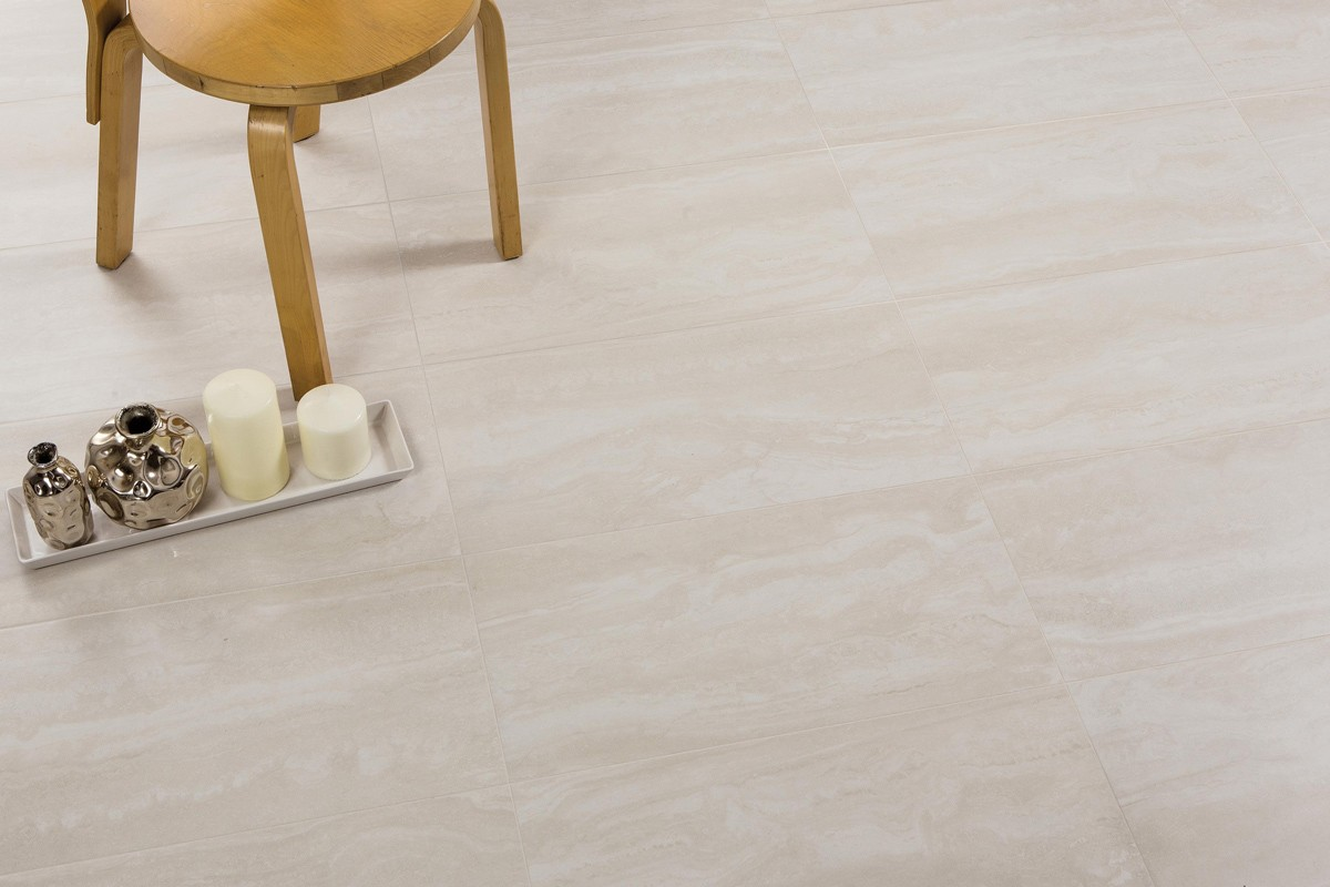 Carrelage imitation marbre travertino bone rectified for Carrelage marbre