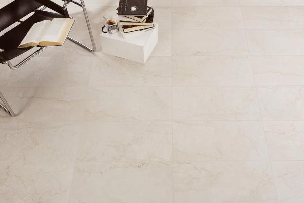 Gres porcellanato effetto marmo botticino bone 60x60 ceramiche crz64 - Piastrelle gres porcellanato effetto marmo ...