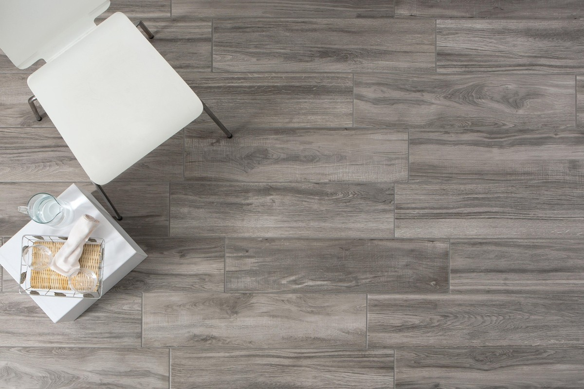 Wood Effect Floor Tiles Tree Grigio 20 2x80 2