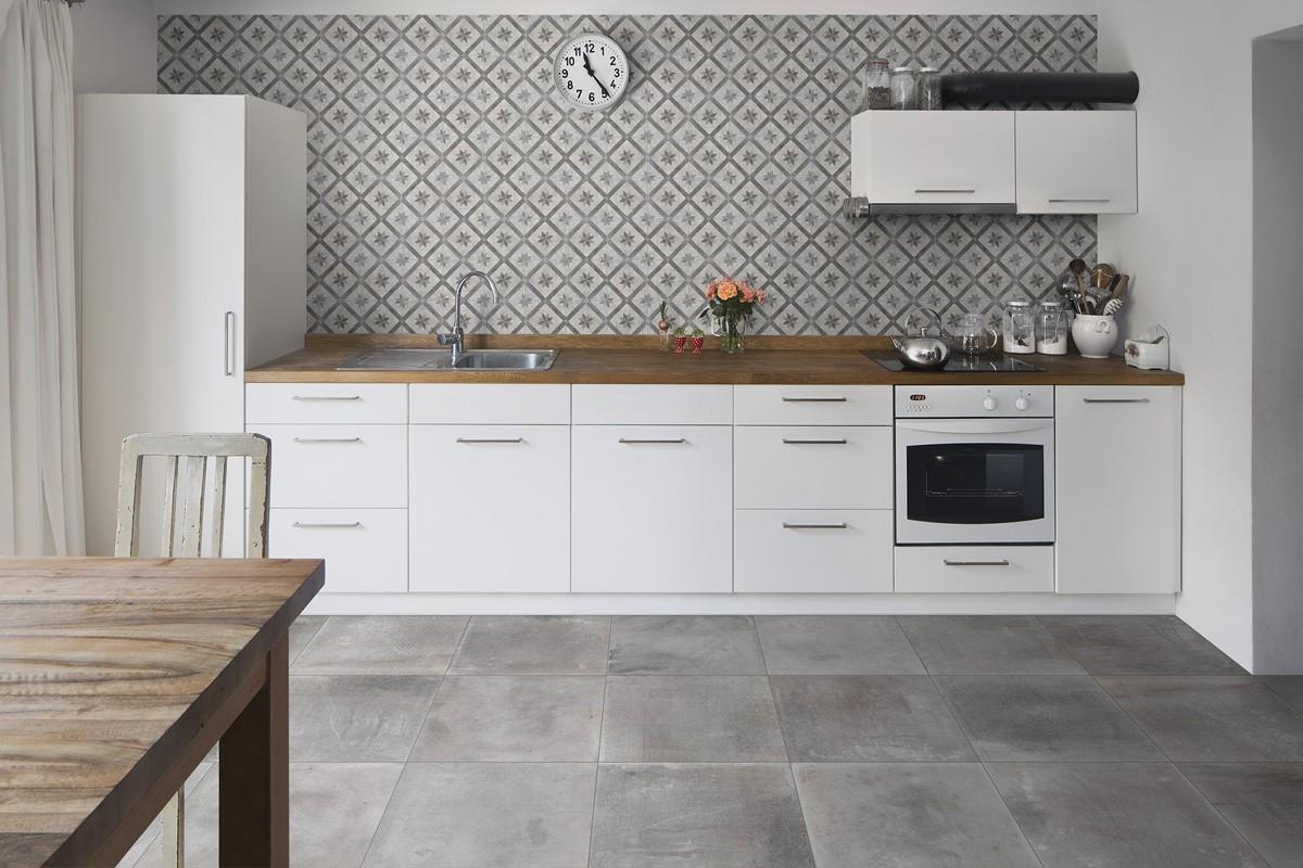 Gres effetto cemento grigio italiangres for Pavimento senza fughe