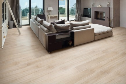 Wood effect floor tiles rovere