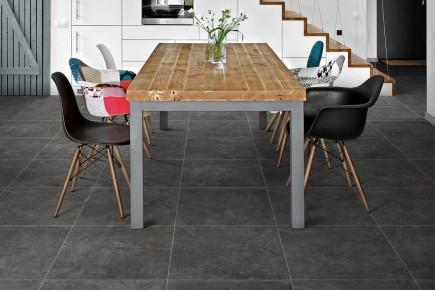 Concrete effect floor grey smoke