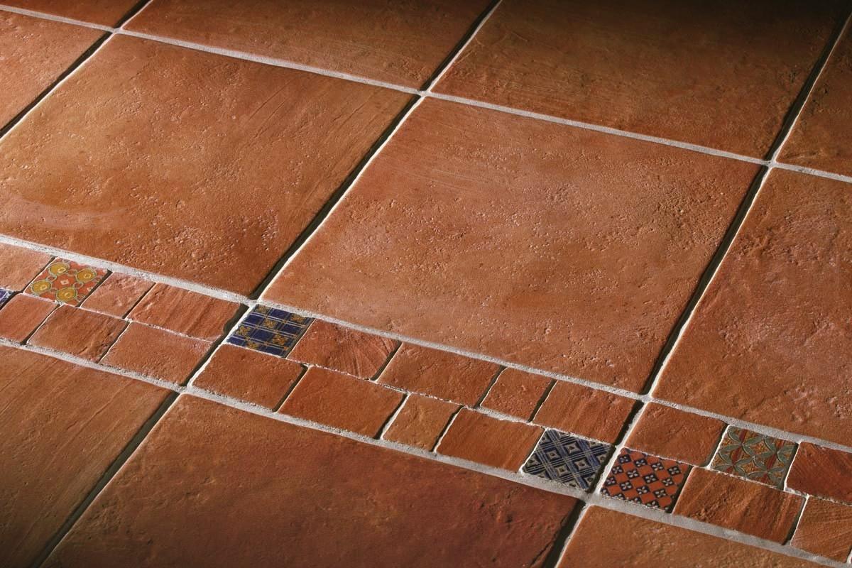 Terracotta effect floor tiles copper ca 2001 30x30 for Carrelage 70x30