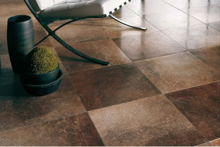 Stone effect tiles - Tobacco