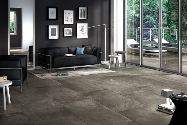 Stone effect tiles - Anthracite