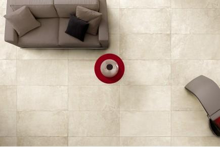Stone effect tiles - White