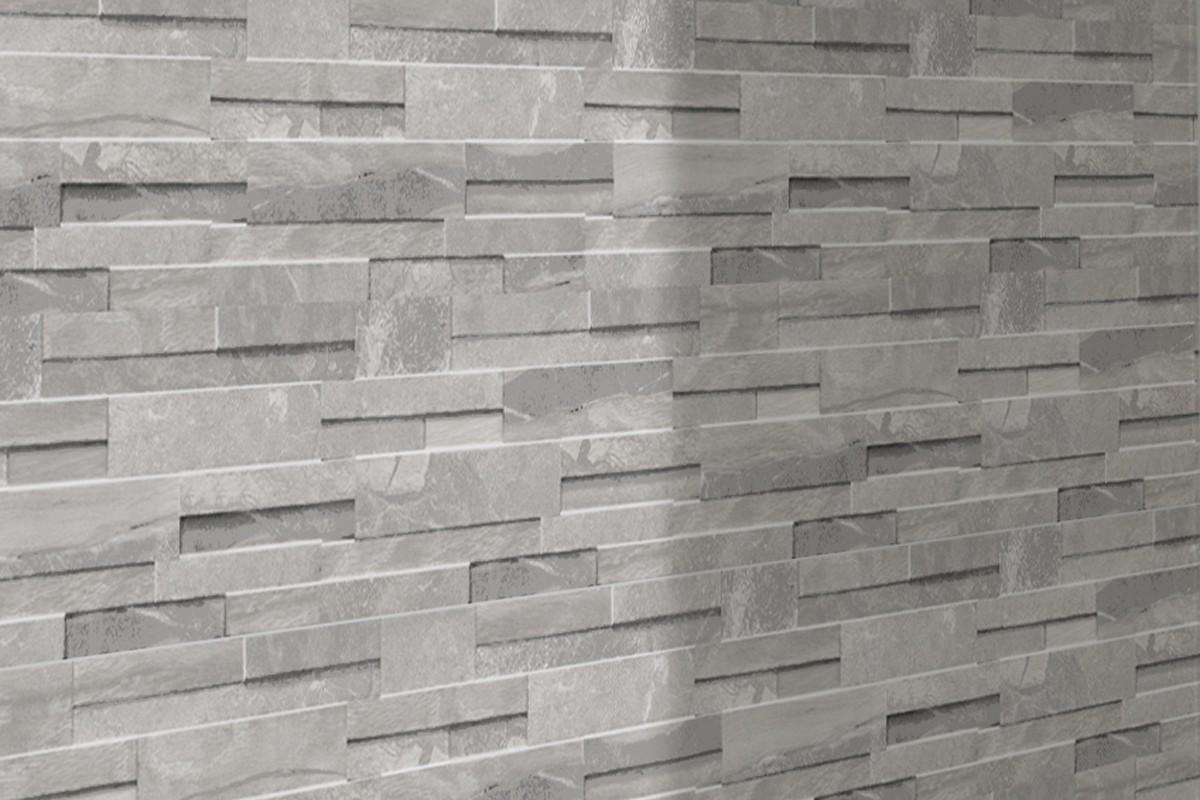 Gres porcellanato melange grigio chiaro con 4003 16x40 for Gres porcellanato grigio