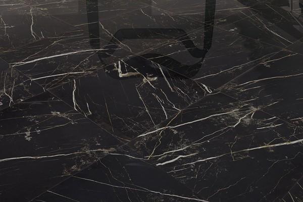 Gr s c rame effet marbre noir ca 7003 59x59 luc - Carrelage imitation marbre noir ...