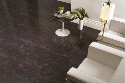 Marble effect tiles - Brown melange