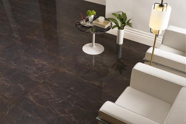 Floor tiles marble effect