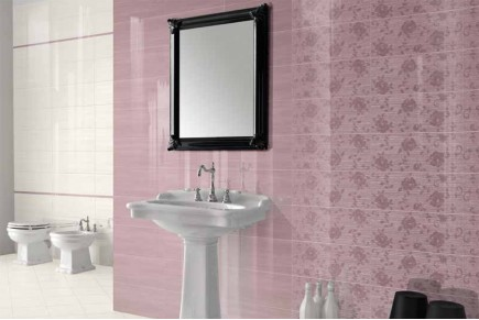 Double-fired wall tiles - Purple