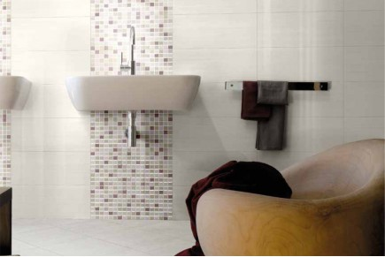 Double-fired wall tiles - White