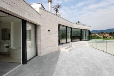 Stone effect tiles - light grey