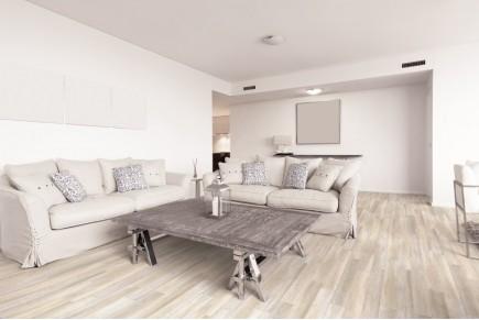 Wood effect floor tiles - Whitened