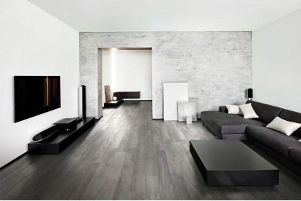 Wood effect floor tiles grey smoke