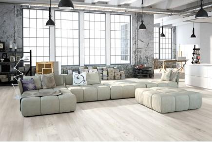 Wood effect floor tiles shabby