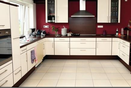 Concrete effect floor tiles - Cream
