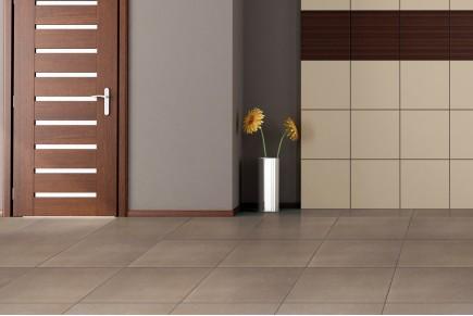 Concrete effect floor tiles - Hazel