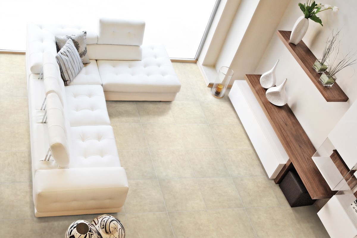 Gres porcellanato effetto cemento beige - ItalianGres