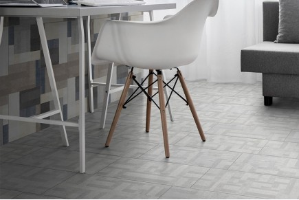 Fabric effect tiles - Grey