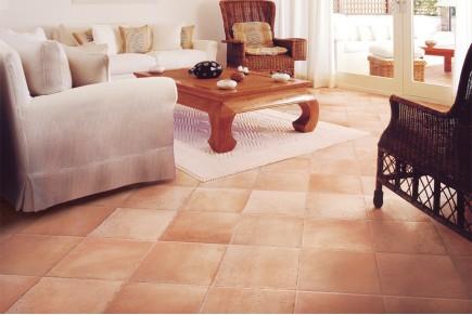 Rustical effect tiles - Rosé