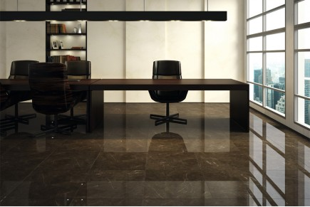 Marble effect tiles - Brown