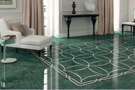 Marble effect tiles - Green