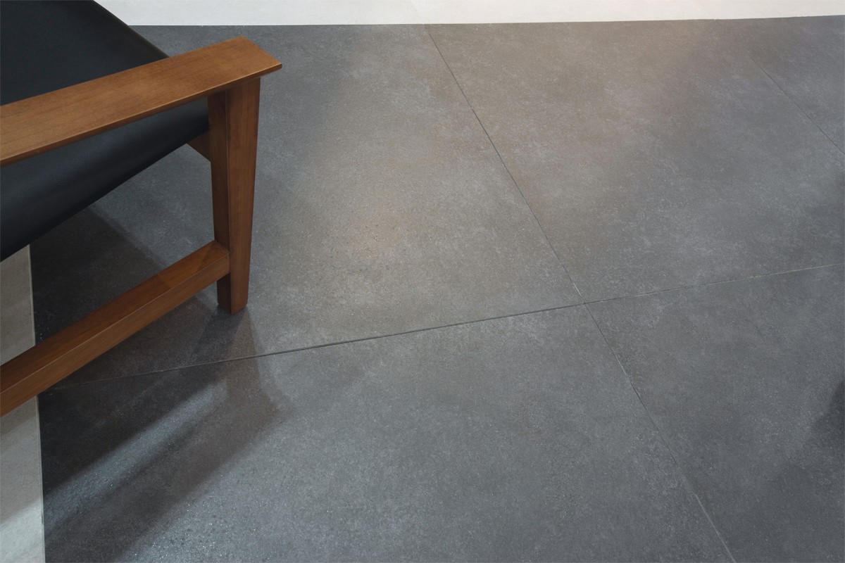 Gr s c rame effet concret anthracite italiangres - Vloertegel cement ...