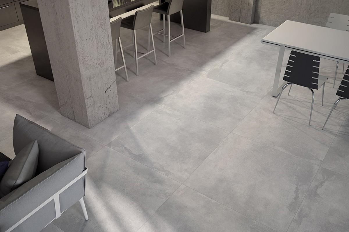 Beton modern wohnzimmer for Fliesen wohnzimmer modern