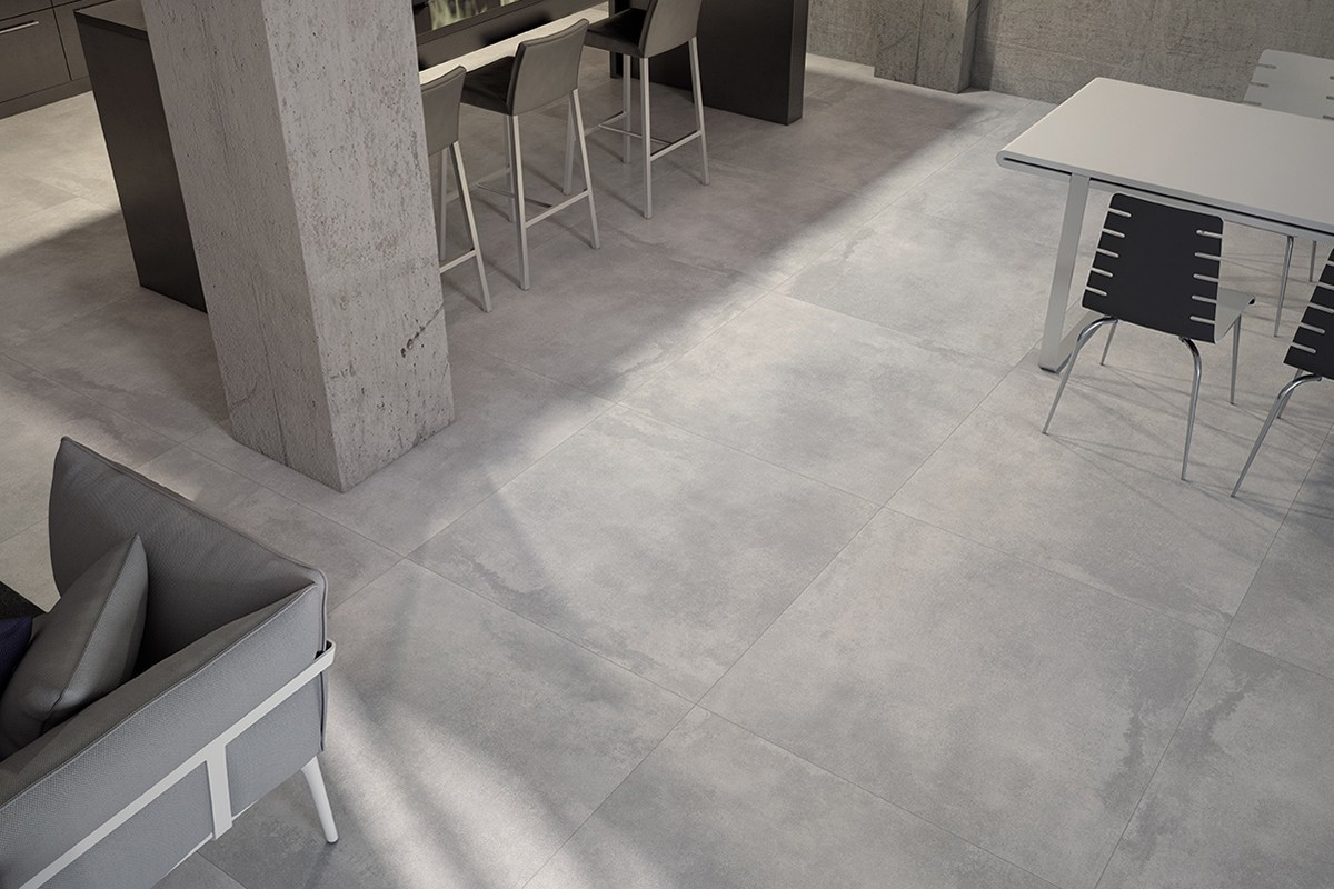 Modern fliesen new concrete 60x60 ceramiche armonie by for Arte casa carrelage