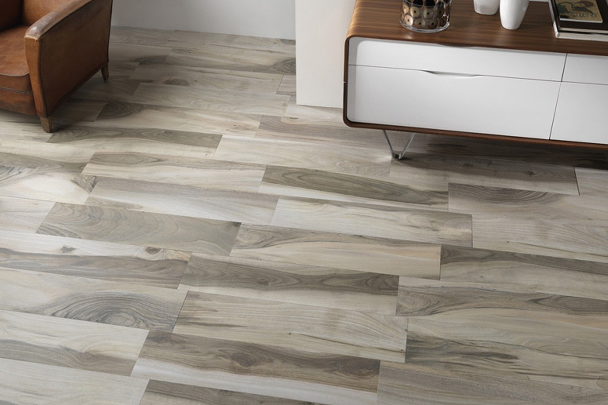 Gres porcellanato effetto legno acadia grigio 22 5x90 for Piastrelle ceramica finto legno