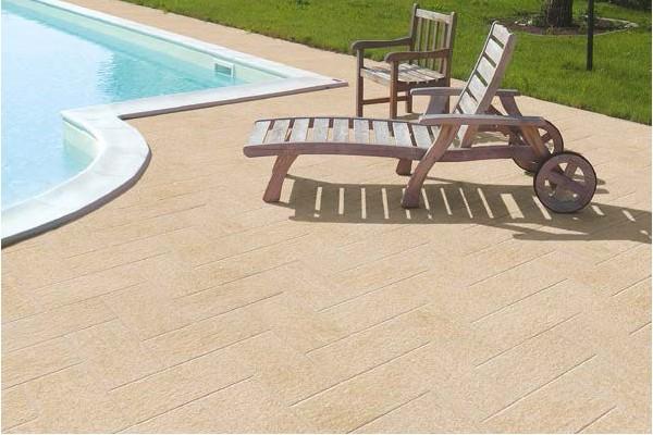 carrelage terrasse luserna beige 15x15 ceramiche saime. Black Bedroom Furniture Sets. Home Design Ideas