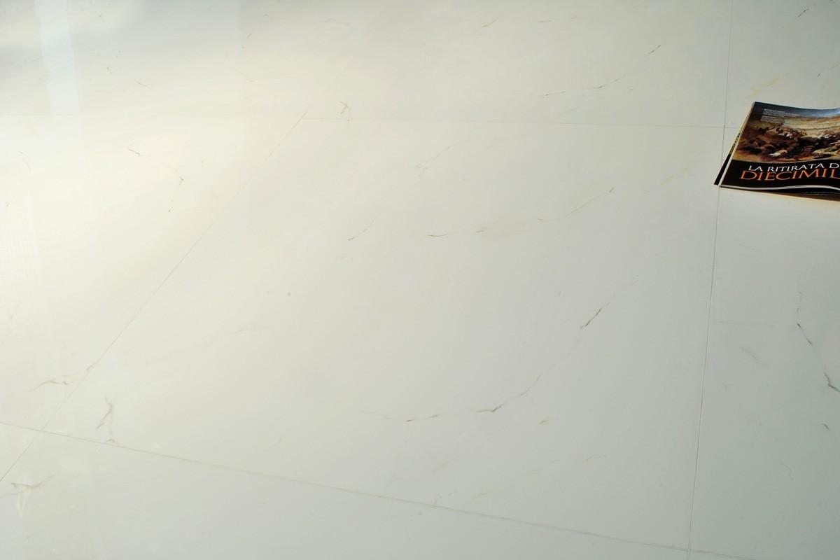 Gres porcellanato effetto marmo white marble 80x80 - Piastrelle gres porcellanato effetto marmo ...