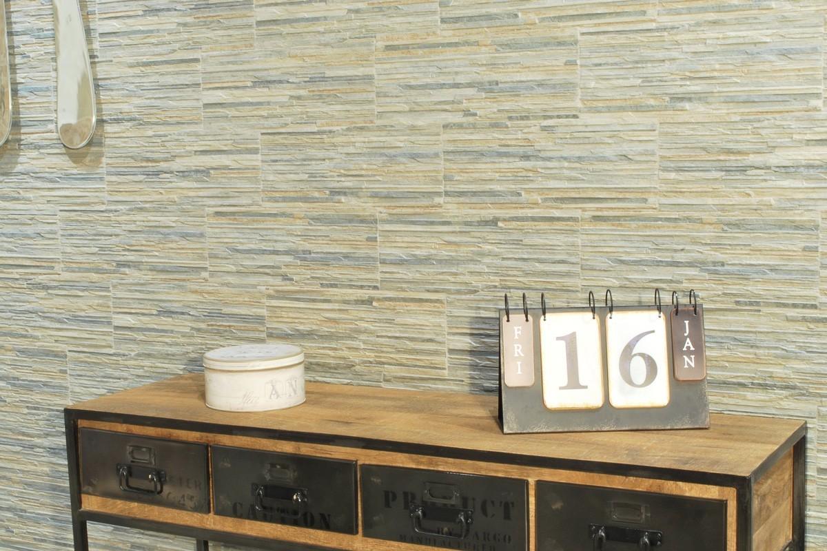 Gres porcellanato effetto pietra piana muschio 16x42 - Piastrelle gres porcellanato effetto pietra ...