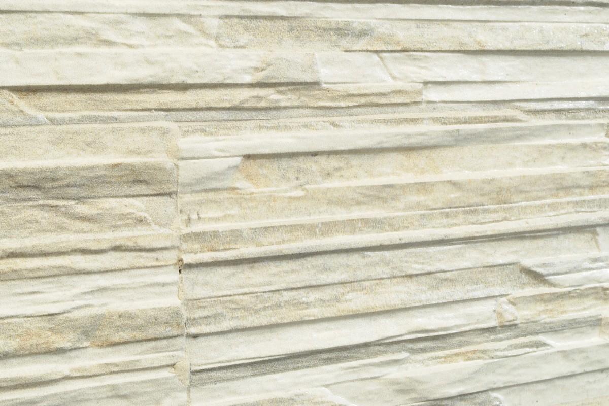 Gres porcellanato effetto pietra piana cenere 16x42 for Piastrelle bagno pietra
