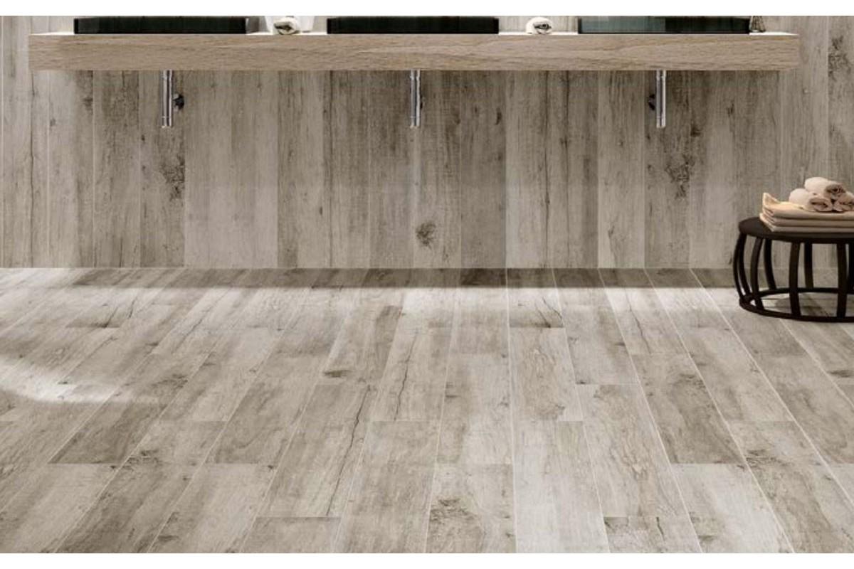 Gres porcellanato effetto legno vintage s grigio 18x118 - Gres porcellanato effetto legno in bagno ...