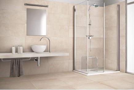 Gres porcellanato effetto pietra morbida grigio 30x60 ceramiche crz64 - Piastrelle bagno 30x60 ...