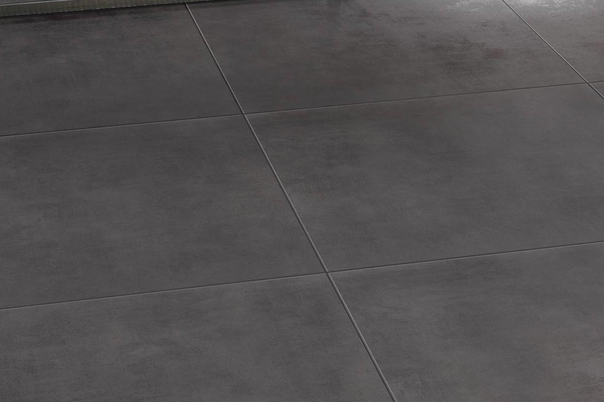 Carrelage int rieur contemporain lunare antracite 60x60 for Carrelage contemporain