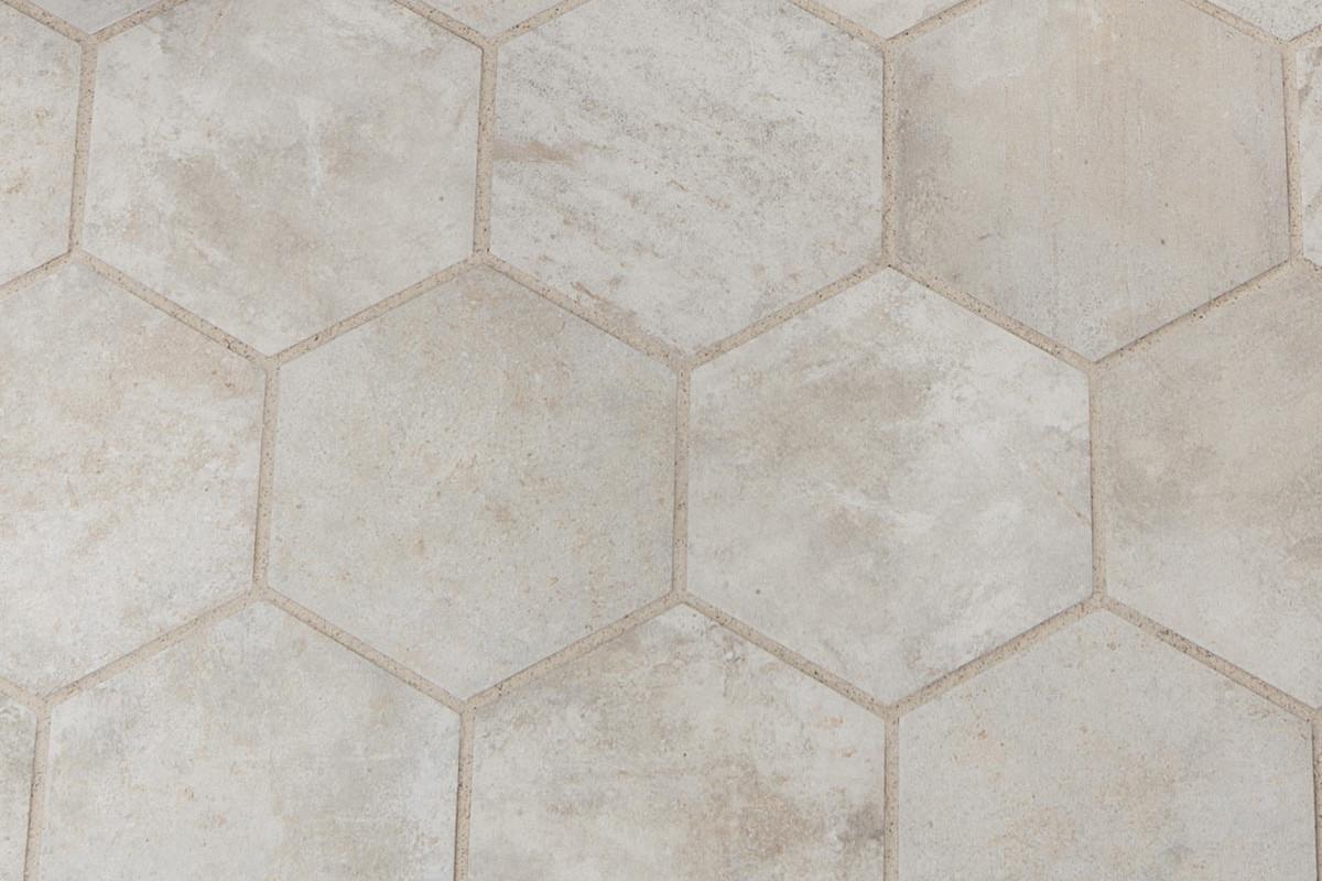 Gres porcellanato rustico manoir beige 18 2x21 ceramiche crz64 - Piastrelle esagonali gres porcellanato ...