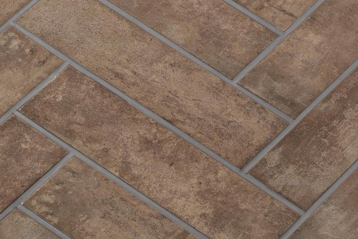 Gres porcellanato rustico manoir tabacco 12 5x50 ceramiche - Gres rustico extrusionado ...
