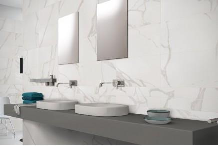 Gres porcellanato effetto marmo Botticino beige 30x60 ...
