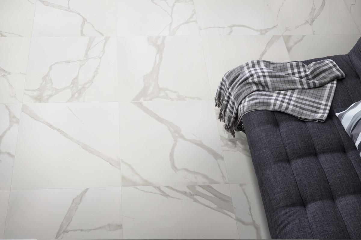 Gres porcellanato effetto marmo statuario bianco 60x60 ceramiche crz64 - Piastrelle gres porcellanato effetto marmo ...