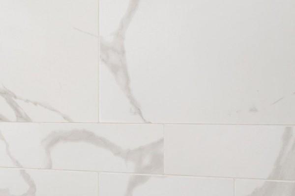 Gres porcellanato effetto marmo Statuario Bianco 60x60 ...