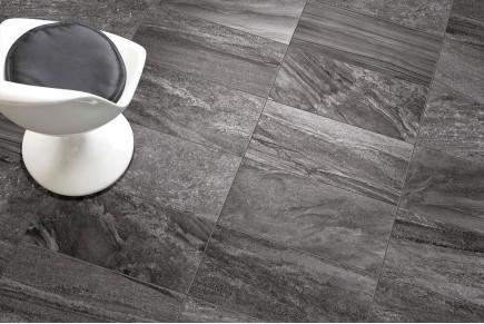 Gres porcellanato effetto pietra morbida antracite 30x60 ceramiche ...