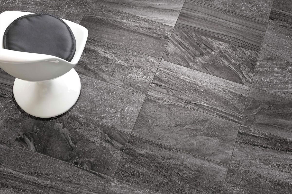 Gres porcellanato effetto pietra morbida antracite 30x60 for Pavimento effetto pietra