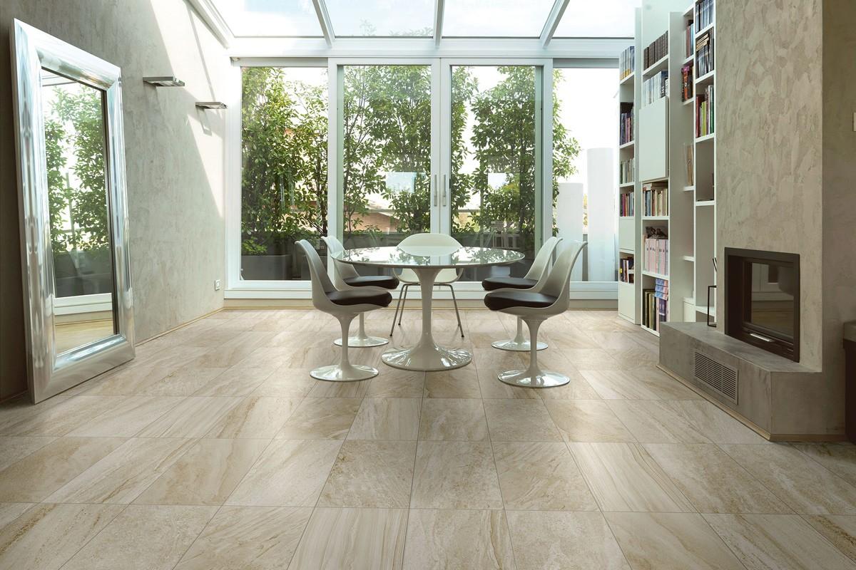 Gres porcellanato effetto pietra morbida avorio 30x60 for Pavimento effetto pietra